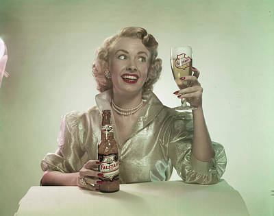 Photograph - Beer Enthusiast by Tom Kelley Archive