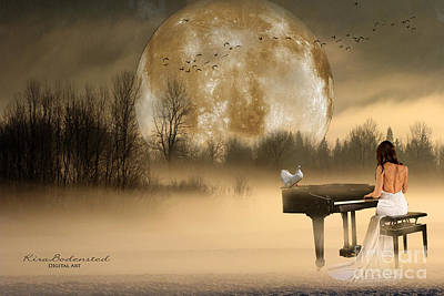 Photograph - Beethoven Moonlight Sonata by Kira Bodensted