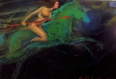 Painting - Beethoven's Valkyrie Pathetique by Jose Herazo-osorio