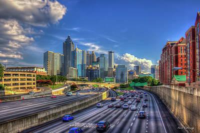 Photograph - Before 5 Atlanta Sunset Downtown Cityscape Georgia Art by Reid Callaway