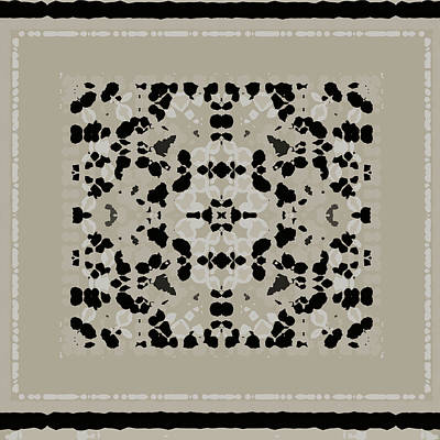 Digital Art - Beige Black Pattern by Judi Suni Hall