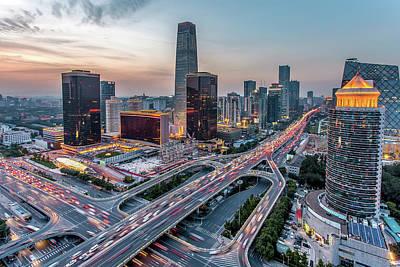Financial District Photograph - Beijing Central Business District by Dukai Photographer