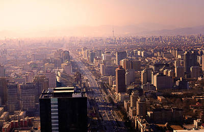 Photograph - Beijing Cityscape by Andy Brandl