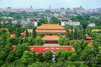 Photograph - Beijing Cityscape by Iryna Liveoak