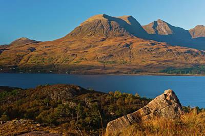Beinn Alligin And Loch Torridon Art Print by David Ross