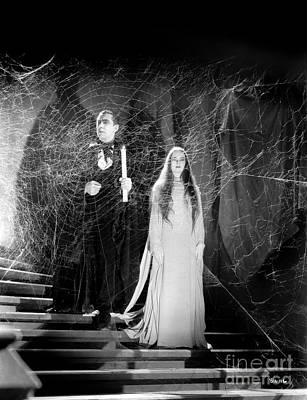 Sean Rights Managed Images - Bela Lugosi - Carroll Borland - Mark of the Vampire Royalty-Free Image by Sad Hill - Bizarre Los Angeles Archive