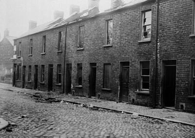 Belfast Slum Art Print by Topical Press Agency