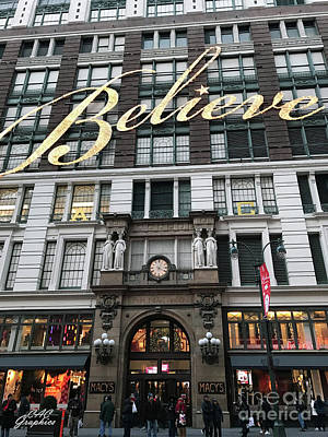 Photograph - Believe Nyc by CAC Graphics