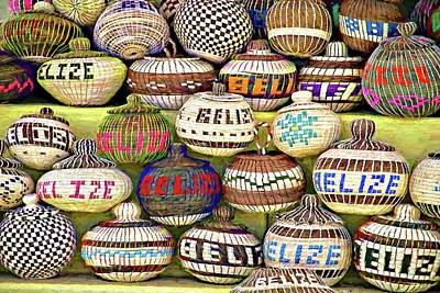 Photograph - Belize Baskets by Alice Gipson