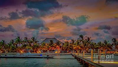 Thomas Kinkade - Belize Sunset by David Zanzinger