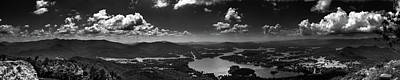Photograph - Bell Mountain Panorama In Black And White by Chrystal Mimbs
