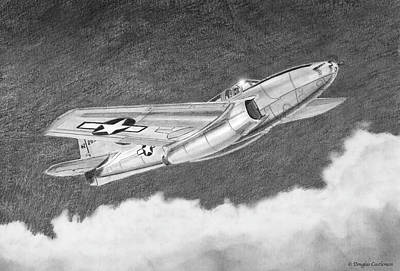 Drawing - Bell P-59 Airacomet by Douglas Castleman
