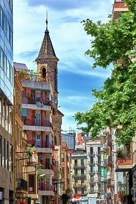 Photograph - Bell Tower And Apartments In Barcelona by Eduardo Jose Accorinti