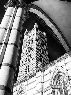 Photograph - Bell Tower Of The Siena Cathedral by John Rizzuto