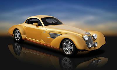 Photograph - Bella Elan Luxury Sport Coupe  -  1937bellelancoupereflect184164 by Frank J Benz