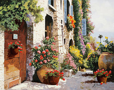 Vintage Food Signs - Bella Strada Numeo Otto by Guido Borelli