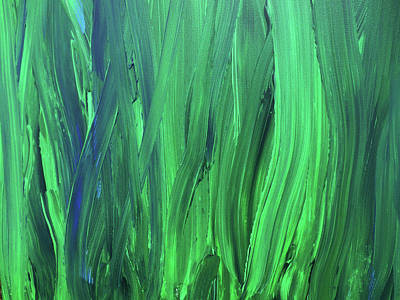 Royalty-Free and Rights-Managed Images - Bella Terra Verde Abstract Green Decor V by Irina Sztukowski