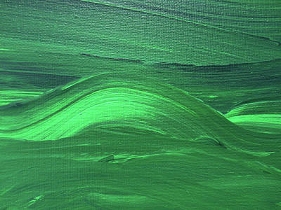 Royalty-Free and Rights-Managed Images - Bella Terra Verde Abstract Green Decor XI by Irina Sztukowski