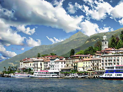 Photograph - Bellagio Coastal View by Anthony Dezenzio