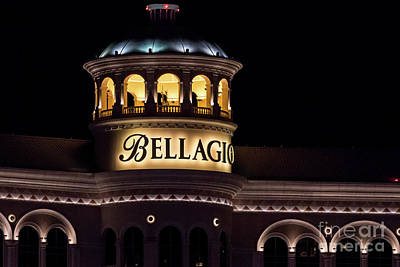 Photograph - Bellagio Las Vegas Night by Sanjeev Singhal