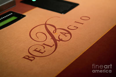 Photograph - Bellagio Las Vegas Poker Felt by Sanjeev Singhal