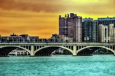 Photograph - Belle Isle Bridge Dsc_0871 by Michael Thomas