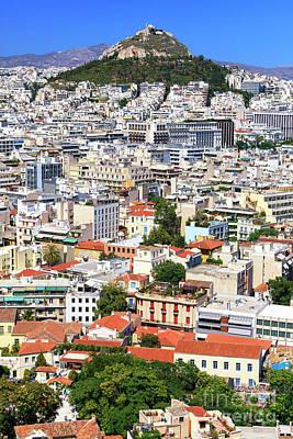 Photograph - Below Mount Lykavittos Athens by John Rizzuto