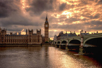 Photograph - Westminster Bridge To Time by Thomas Gaitley