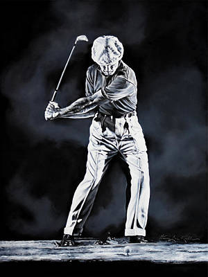 Sports Royalty-Free and Rights-Managed Images - Ben Hogan Swing 2 by Hanne Lore Koehler