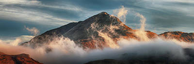 Photograph - Ben Lomond Misty Sunset by Grant Glendinning