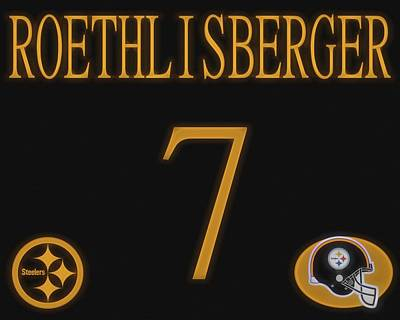 Mixed Media - Ben Roethlisberger Jersey by Dan Sproul