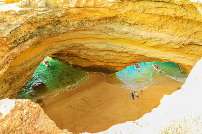 Photograph - Benagil Cave Boat Trips by Benny Marty
