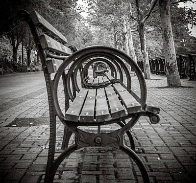 Photograph - Bench Circles by Steve Stanger