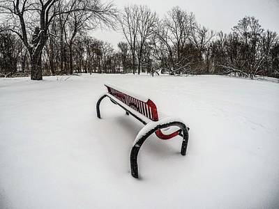 Digital Art - Bench In The Snow G0853398 by Michael Thomas