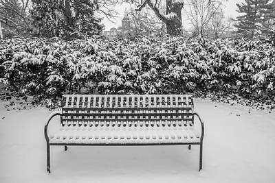 Photograph - Bench In Winter  by John McGraw
