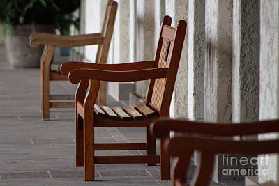 Photograph - Benches At The Reagan Library by Colleen Cornelius