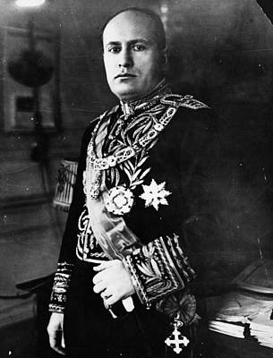Photograph - Benito Mussolini by Topical Press Agency
