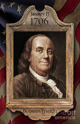 Digital Art - Benjamin Franklin by Mark Miller