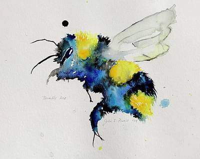 Painting - Benjamin the Bumblebee  by Julia S Powell