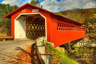 Photograph - Bennington Henry Covered Bridge by Adam Jewell