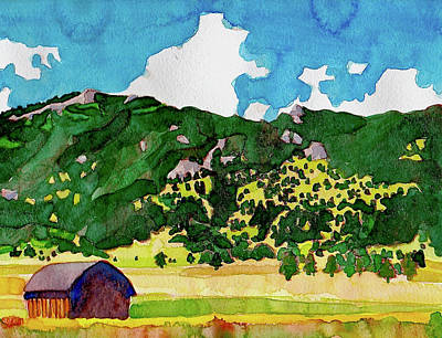 Painting - Bergen Peak Summer Watercolor by Dan Miller