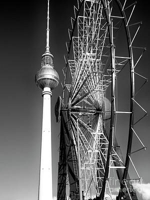 Photograph - Berlin Christmas Market Ferris Wheel by John Rizzuto