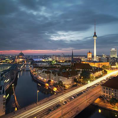 Berlin Cityscape Art Print by Rafael Dols