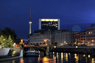 Photograph - Berlin Night by Images Unlimited