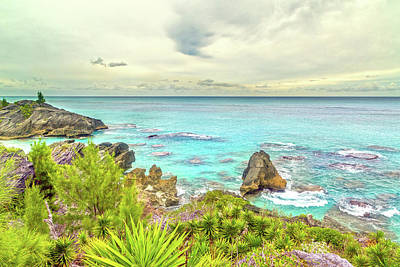 Thomas Kinkade - Bermuda Coastline Highview  by Betsy Knapp
