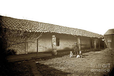 Photograph - Bernada Ruiz Y Rodriguez Adobe On  North Of  The St. Charles Hot by California Views Archives Mr Pat Hathaway Archives