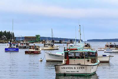 Photograph - Bernard Harbor Lobster Fishing Boats by Stefan Mazzola