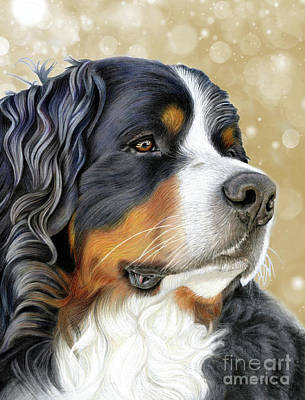 Mixed Media - Bernese Old Gold by Donna Mulley