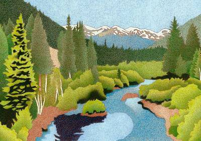 Drawing - Berthoud Pass by Dan Miller