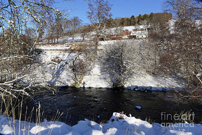 Photograph - Beside The River Livet In Winter by Phil Banks